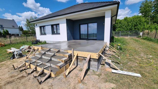 Usługi Budowlane Schody Tarasy Budowa domu Płoty Beton Murowanie