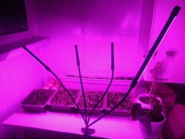 GrowLight Фитолампа с прищепкой 4 в 1 для растений полный спектр 40Вт