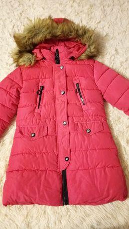 Пальто зимове на дівчинку 8-10 років