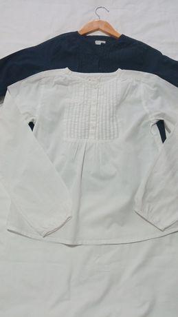 Camisa branca com botões menina 13-14 anos