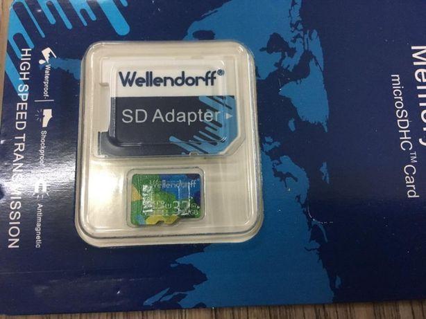 Адаптер для карты памяти Микро СД на 32 ГБ 10-й класс Wellendorff