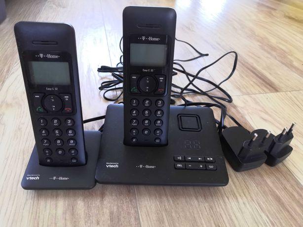 Dwa telefony stacjonarne