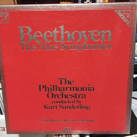 8 Discos vinil Beethoven - nine symphonies - The Philharmonia Orchestr