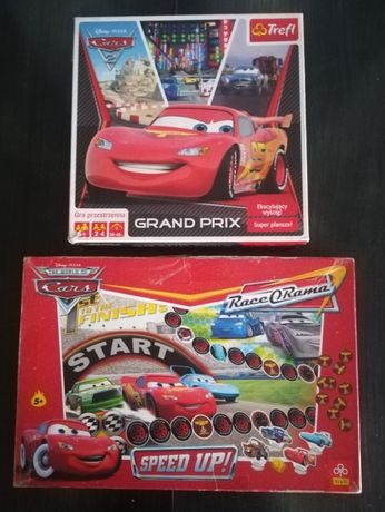 McQueen Cars 4x puzzle + 2x gra (planszowa,przestrzenna)