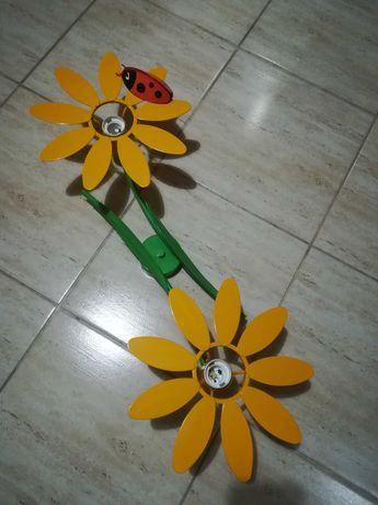 Lampa sufitowa 2 kwiaty z biedronką