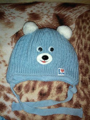 Зимняя шапочка на новорождённого мальчика
