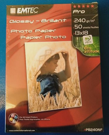 NOWY Papier Fotograficzny EMTEC PRO POŁYSK 240g/m 13x18