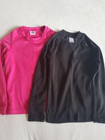 Dwie termiczne bluzeczki r.122/128