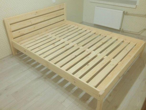 Кровать 2спальная деревянная, 160х200 см из натурального дерева