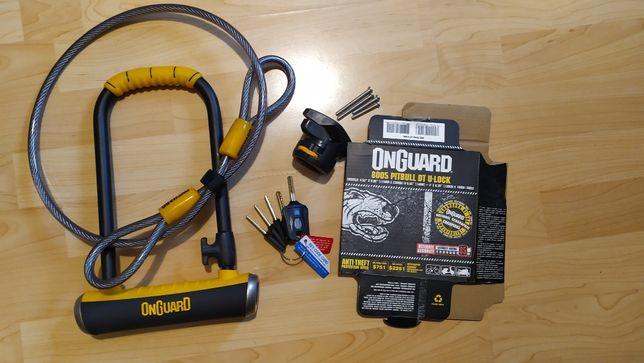 Najmocnieszy U-LOCK ONGUARD PitBull DT 8005 + linka 120 cm