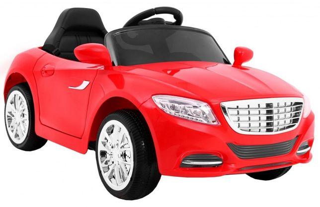 Samochód Merc na akumulator czerwony miekkie koła Eva