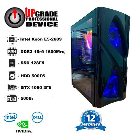 Системный блок игровой 8/16 ядер/16GB/SSD 120GB/HDD 500/GTX 1060