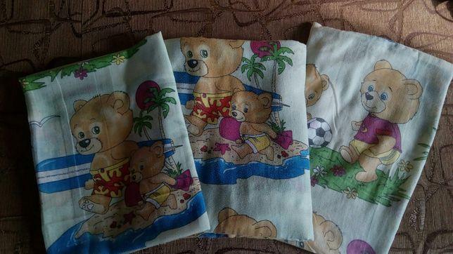 """Комплект детского сменного постельного белья для мальчика,бязь """"Мишки"""""""