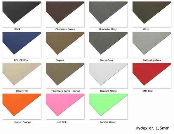 Kydex gr.1,5mm - różne kolory