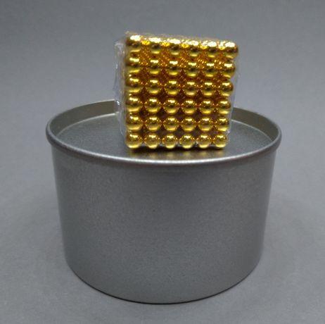 Игрушка неоКуб золотистый магнитные шарики 5мм 216 конструктор Neocube
