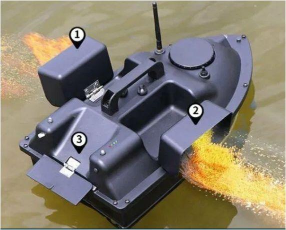 Модернизированный скоростной кораблик для рыбалки прикормки