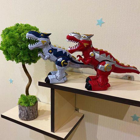 Динозавр несет яйца, ходит, рычит, светится