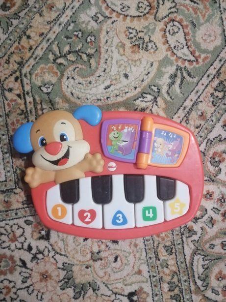 Детское пианино Fisher price на украинском и английском