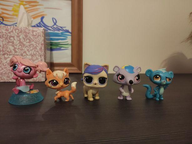 figurki littlest pet shop 5 sztuk
