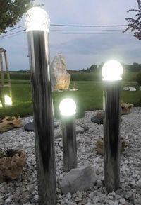 Fontanna ogrodowa. Fontanny ze stali nierdzewnej. Kule szklane tarasow
