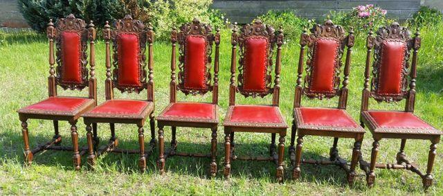 krzesła eklektyczne (komplet 6 szt)