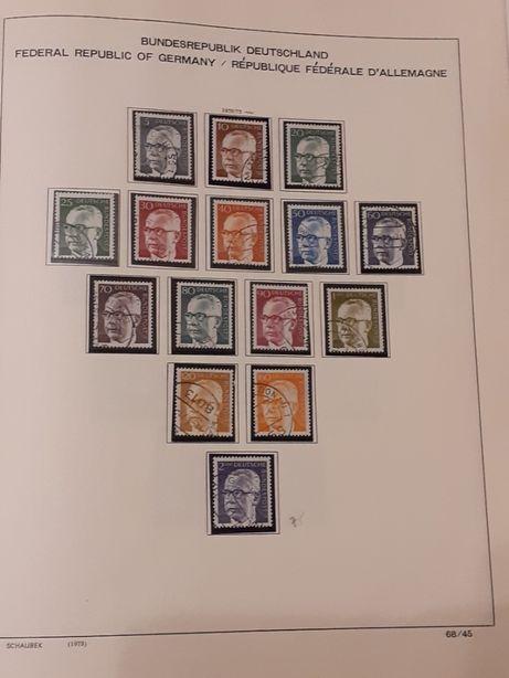Kolekcja znaczków Niemcy 1948 album