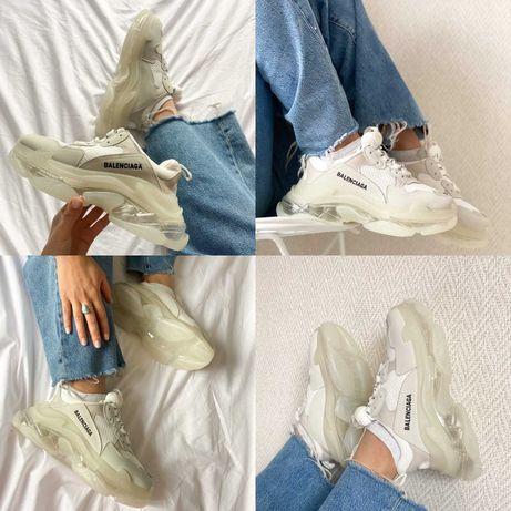 Женские кроссовки Balenciaga Triple S Clear Sole White Grey 36-40 Киев