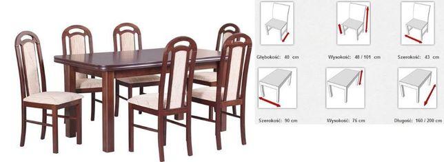 Zestaw stół + 6 Krzeseł-transport GRATIS
