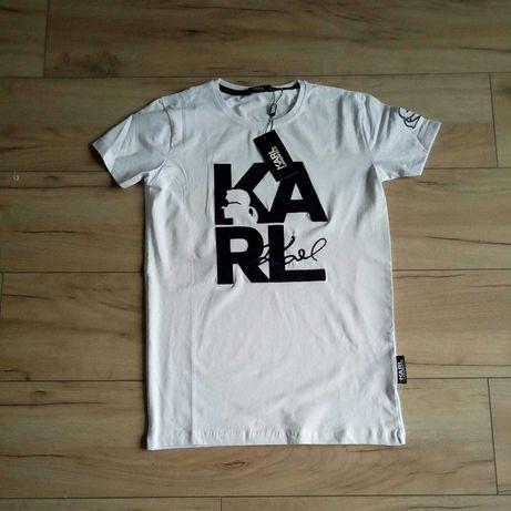 Koszulka T-shirt bawełniana Karl Lagerfeld L