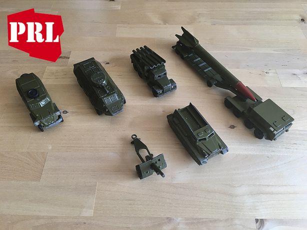 Stare zabawki PRL vintage odlew ciągnik skot armata rakieta scud Rosja