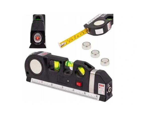 POZIOMICA LASEROWA Laser z miarka Metr 250cm