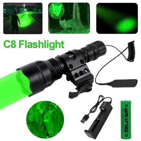 Kit Lanterna para caça verde