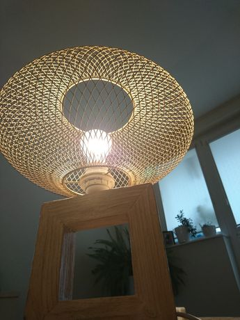 Lampa stojąca LOFT / INDUSTRIAL  HandmadE drewno i metal