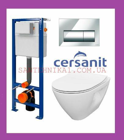 Инсталляция Cersanit Aqua 02 + унитаз Mille Clean on Grohe Geberit OLI