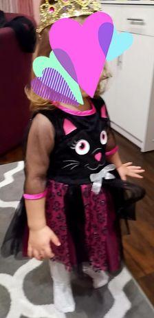Sukienka dziewczynka F&F  rozmiar 92 + dodatki