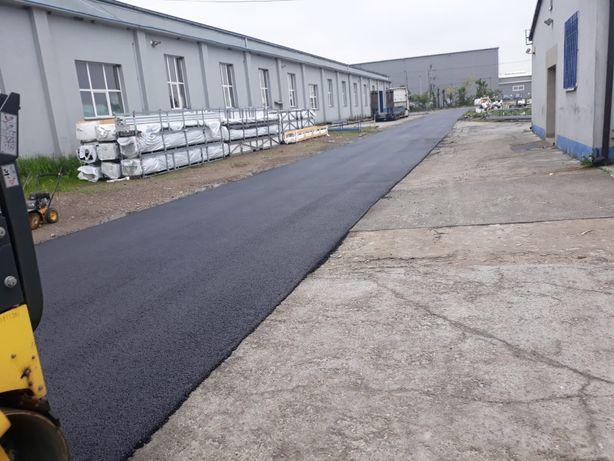 Układanie asfaltu/budowa dróg/parkingów/asfaltowanie/zalewanie spękań