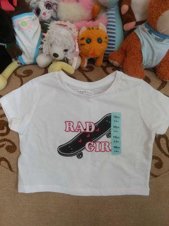 Вкорочена футболка для дівчинки нова+джинси б/в у хорошому стані