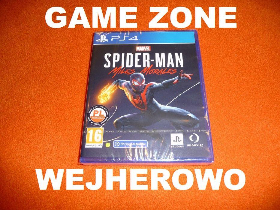 Spider-Man Miles Morales PS4 + Slim + Pro + PS5 = PŁYTA PL Wejherowo