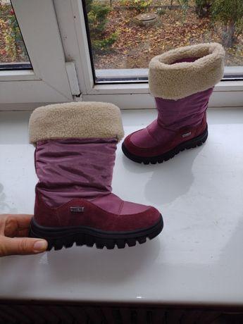 Naturino rain step gore tex зимние ботинки сапоги девочки 27 17,5.ecco