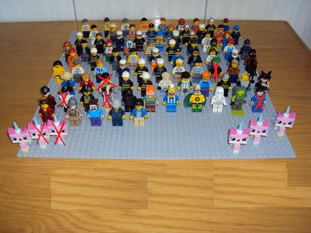LEGO - Lote 84 Minifiguras Diversos Temas (Originais)
