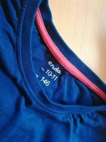 T-shirt bluzka koszulka Endo 140 cm 146 cm 152 cm napis granat