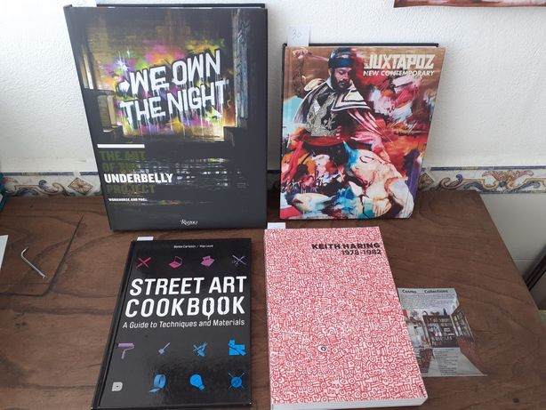 Livros Street Art cook book  Keith Haring, Juxtapoz, we own the night