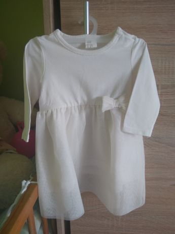 Sukienka H&M 68 chrzest