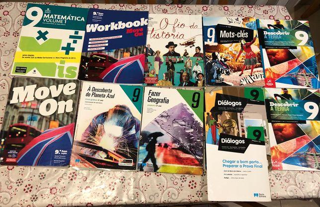 Livros escolares 9.ºano semi-novos