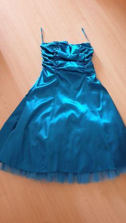 Vestido de cerimónia tamanho l/xl em cor azul anil