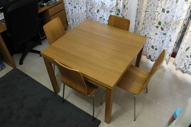 Mesa IKEA BJURSTA em chapa de carvalho