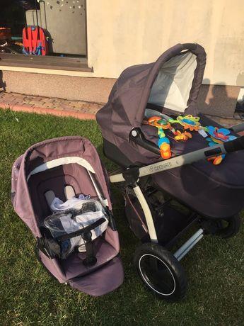 Wózek MAXI COSI MURA 4 PLUS Confetti 2016 - pełny komplet + śpiworek