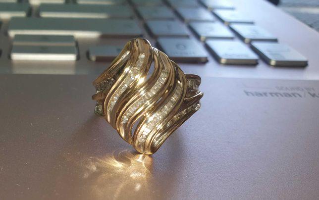 кольцо золотое  бриллианты диаманты каблучка золото