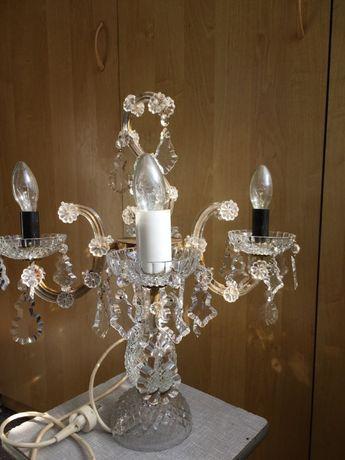 Лампа хрустальная настольная Чешская