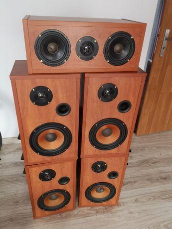 kolumny głośnikowe do kina domowego 5.(1), ręcznie robione